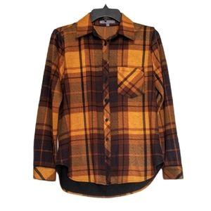 ELLIOTT LAUREN Flannel Plaid Button Down Shirt